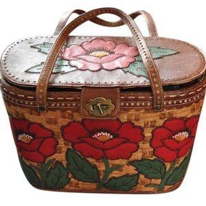 Isabella Fiore Flower Basket Satchel Handbag Bag